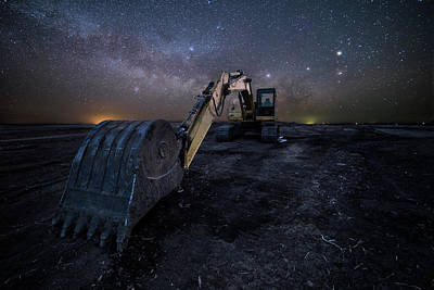 Photograph - Space Excavator  by Aaron J Groen