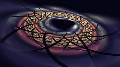 Digital Art - Space Fabric Punctured by Doug Morgan