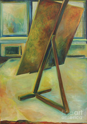Art Print featuring the painting Space Filled And Empty by Daun Soden-Greene