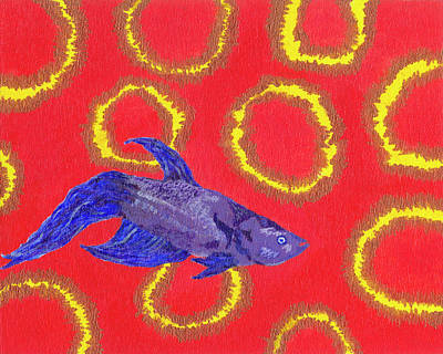 Painting - Space Fish by Rishanna Finney