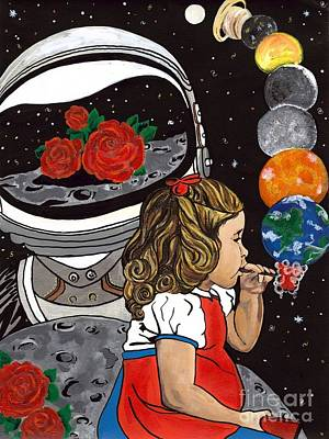 Dadaism Painting - Space Girl by Jessy Marie