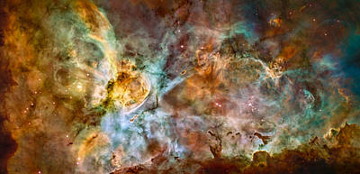 Photograph - Space Image Birth Of New Stars by Matthias Hauser