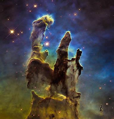 Digital Art - Space Image Eagle Nebulas Pillars Of Creation by Matthias Hauser