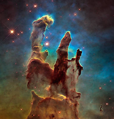 Photograph - Space Image Pillars Of Creation by Matthias Hauser