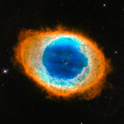 Photograph - Space Image Ring Nebula Colorful Doughnut by Matthias Hauser