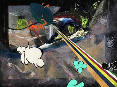 Space Immigrants  Art Print by Antonio Ortiz