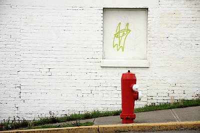 Space Invaders Photograph - Space Invader And The Unsuspecting Hydrant  by Kreddible Trout