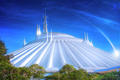 Photograph - Space Mountain by Mark Andrew Thomas