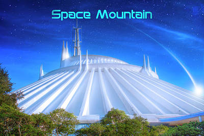 Disney Photograph - Space Mountain Poster Version by Mark Andrew Thomas