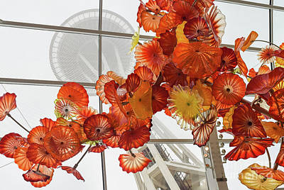 Photograph - Space Needle And Chihuly by Phyllis Britton