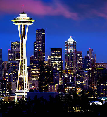 Photograph - Space Needle At Night  by Paul Riedinger