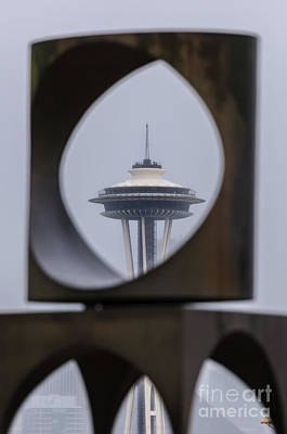 Photograph - Space Needle Changing Form by Paul Conrad
