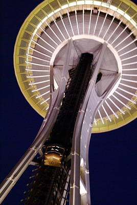 Space Needle Close-up Art Print by Sonja Anderson