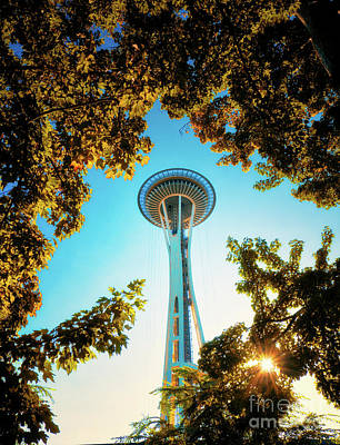 Photograph - Space Needle by Erika Weber