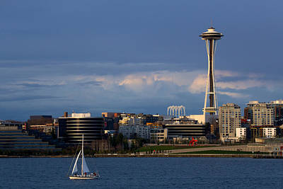 Print featuring the photograph Space Needle by Evgeny Vasenev