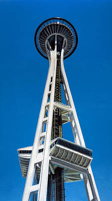 Painting - Space Needle by Jason Girard