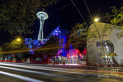 Photograph - Space Needle Night by Sonya Lang