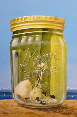 Dill Pickles Painting - Space Needle Pickle Jar by Sherrill Hull