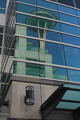Photograph - Space Needle Reflection by Todd Kreuter