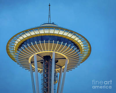 Photograph - Space Needle Saucer by Jerry Fornarotto