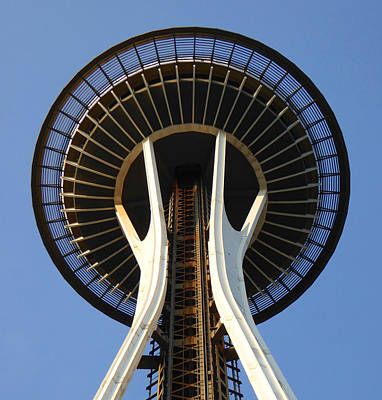 Photograph - Seattle Space Needle - Architecture by Art America Gallery Peter Potter