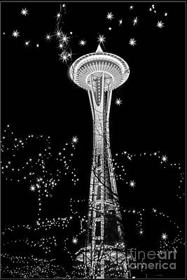 Photograph - Space Needle Sparkle by Sonya Lang