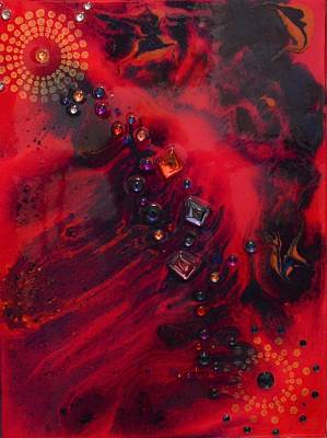 Painting - Space Poppies by MiMi Stirn