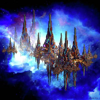 Fantasy Royalty-Free and Rights-Managed Images - Space Riffleurs by Lilia D