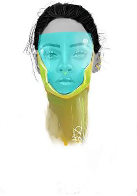 Rihanna Drawing - Space Riri by Bonolo Khonkhe
