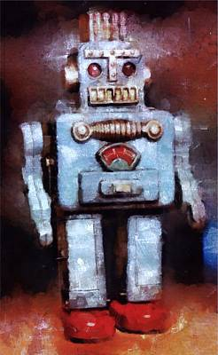 Space Robot Art Print by Esoterica Art Agency