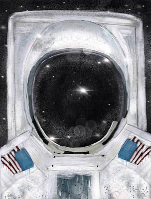 Painting - Space Selfie by Bri B