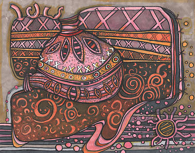 Space Ships Drawing - Space Ship Dream by Sandra Church