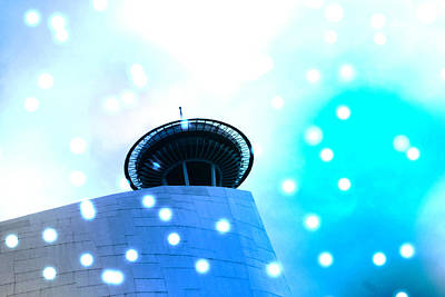Photograph - Space Ship Or Space Needle - Seattle by Marie Jamieson
