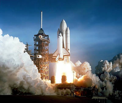 Photograph - Space Shuttle Columbia - First Launch 1981 by War Is Hell Store