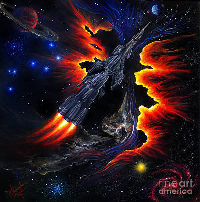 Space Shuttle. Flight Through The Never Original by Sofia Metal Queen