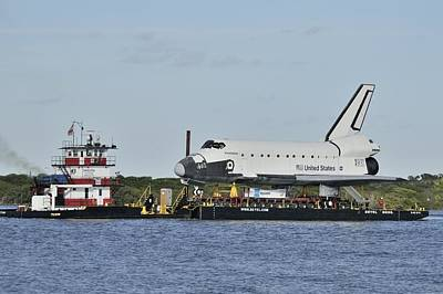 Photograph - Space Shuttle Inspiration On A Barge by Bradford Martin
