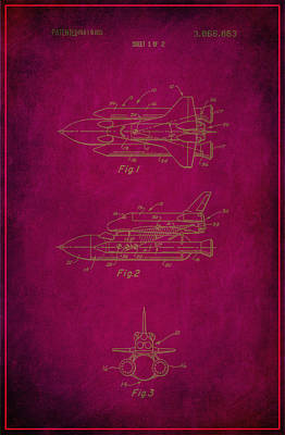 Space Shuttle Patent Drawing  Art Print
