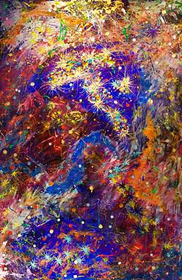 Painting - Space Stars by Patrick OLeary