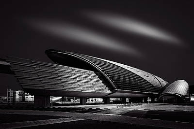 Photograph - Dubai Metro Station Mono by Ian Good