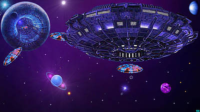 Science Fiction Digital Art - Space The Freaky Frontier. by Ted Duvall
