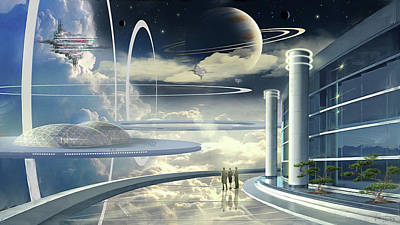 Digital Art - Space - Three Hundred Years by James Vaughan