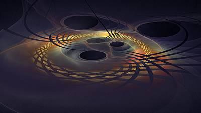 Digital Art - Space Time Disruption-2 by Doug Morgan