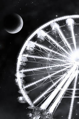Photograph - Space Wheel by Mark Andrew Thomas