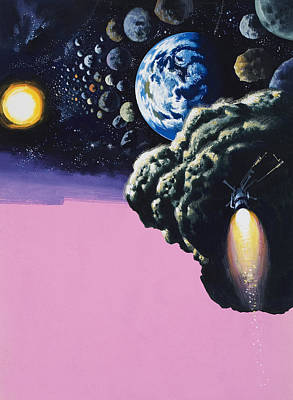 Space Exploration Painting - Space by Wilf Hardy