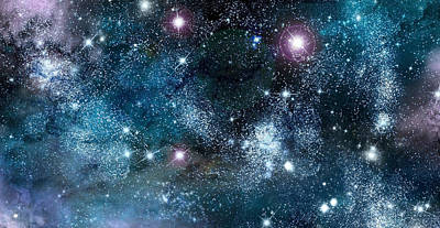 Milky Digital Art - Space003 by Svetlana Sewell