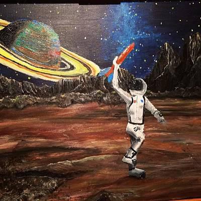Spaceboy Art Print by Ron Formento Jr