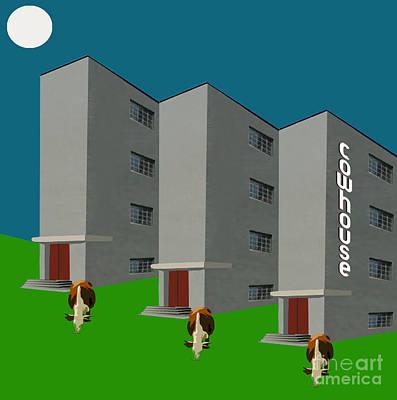 Barnyard Digital Art - Spaced-out Munchies No. II by Geordie Gardiner