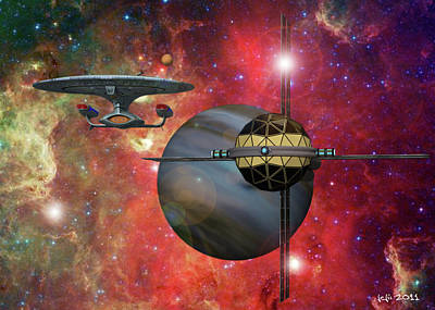 Spaceliner Opulence Art Print