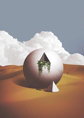 Trippy Digital Art - Spacemen by Fran Rodriguez