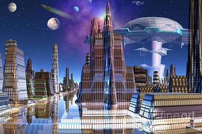 Spaceport Digital Art - Spaceport America by Heinz G Mielke